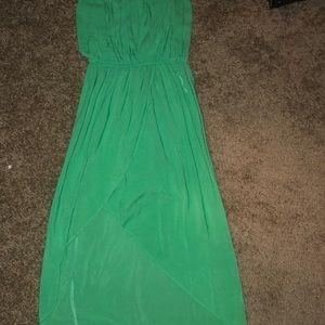 Green flowy dress